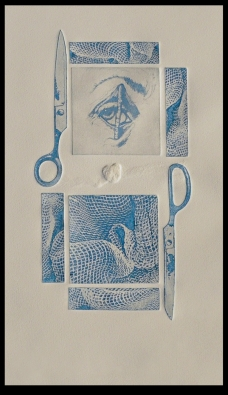 Line etching, aquatint, & embossing on BFK Rives paper